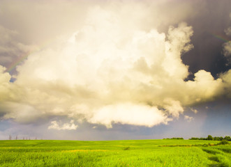 Tornado Coming Stormy Landscape
