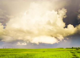 Tornado Coming Stormy Landscape