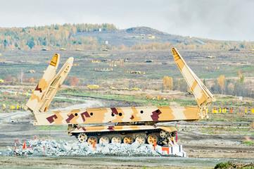 Bridge layer MTU-72 in action. Russia