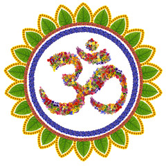 Isolated om sanskrit symbol