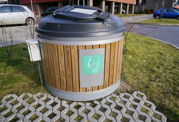 Modern  ecological trash bin