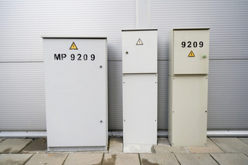 Metal gray boxes