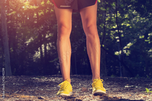 canvas print picture Ready for jogging in the forest.