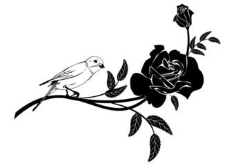 Valentinel vignette with bird