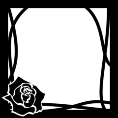 vector frame with rose