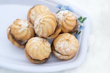 Cookies in sugar powder