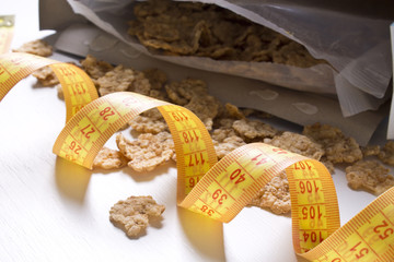 tape measure with cereal