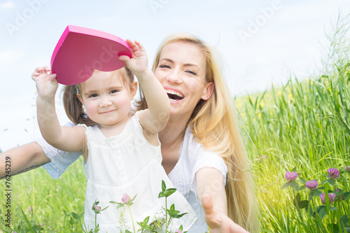 canvas print picture mutter mit tochter