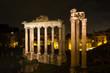 Постер, плакат: Temple of Saturn and Vespasian at night