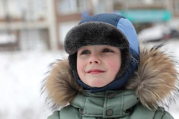 Preschooler in winter park