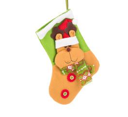 Decorative christmas green sock.