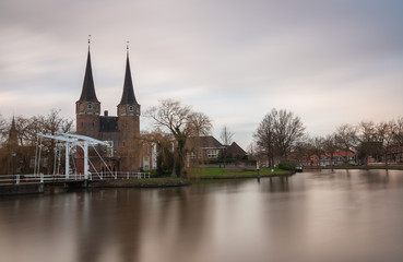 Delft east portal with towers