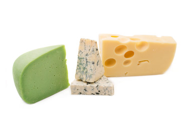 Delicious cheese types.