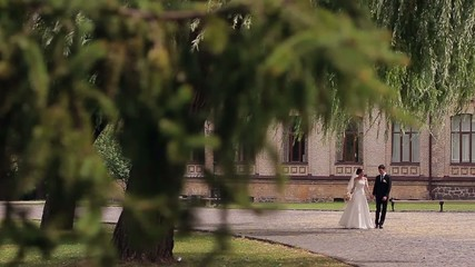 beautiful couple newly married