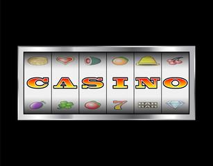 Slot Reels Casino Sign