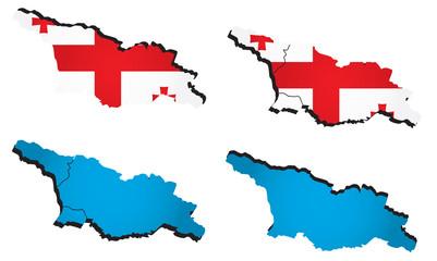 Vector map of Georgia
