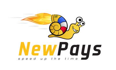 Logo template, turbo snail