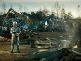 men at work in recycling center - 76248274