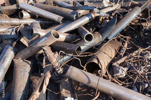 Fotobehang Metal scrap metal