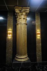 gold column in the interior