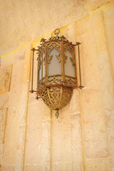 Arabic style lamp on the wall