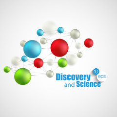 Chemical Science and discovery. Vector illustration. Molecule