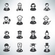 profession icons vector set - 76249251