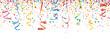 Buntes Konfetti mit Luftschlangen - 76249608