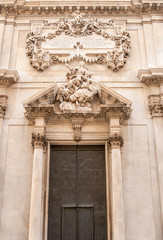 Architectural detail of Savona cathedral,Italy