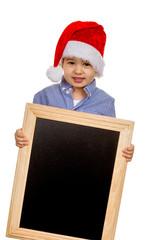 Kleiner Junge mit Nikolausmütze