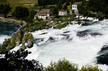 Rhina Falls in Switzerland