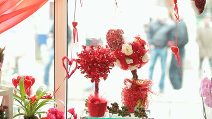 Valentine's Day gift shop showcase