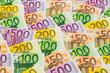 Viele verschiedene Euro-Geldscheine