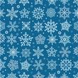 Snowflake seamless pattern. Design template