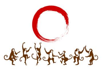 踊るサルと赤丸