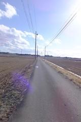光差す・田舎の風景
