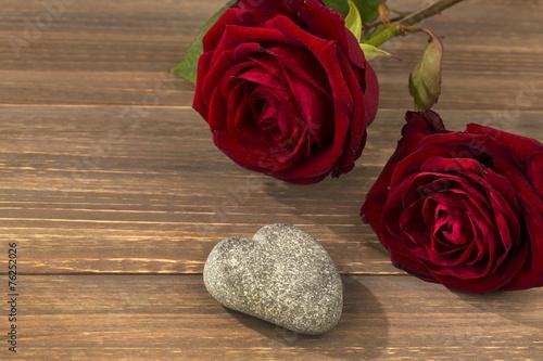 canvas print picture Rosen für Valentinstag und Muttertag
