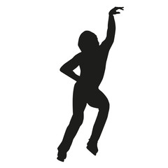 Vector silhouette of a figure skater