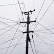 canvas print picture - Viele Kabel an Strommast