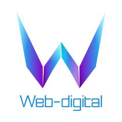 Web digital logo