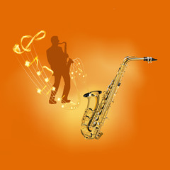playing a musical instrument saxophone
