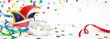 Karneval - Narrenkappe, Maske, Konfetti - 76254034