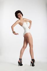 Glamorous Fashion Model with High Heels