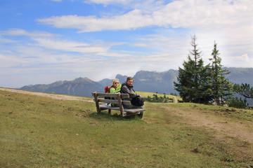 Rast auf dem Panormaberg Wank 1780m bei Garmisch-Partenkirchen
