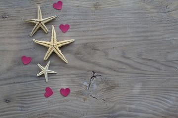 Deniz Yıldızı ve Kalpler
