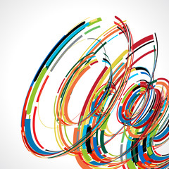 abstract swirl line futuristic graphic template for corporate
