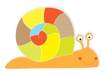 snail on white background- vectors for children