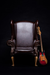 Electric Guitar With Armchair