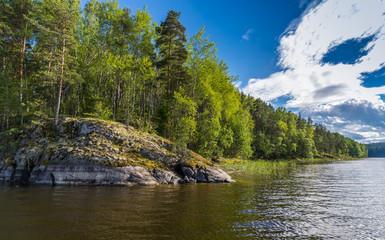 The coastline of the Lake Ladoga.