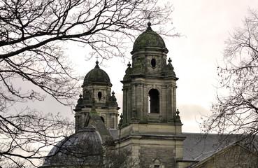 Old church in Edinburgh in the evening